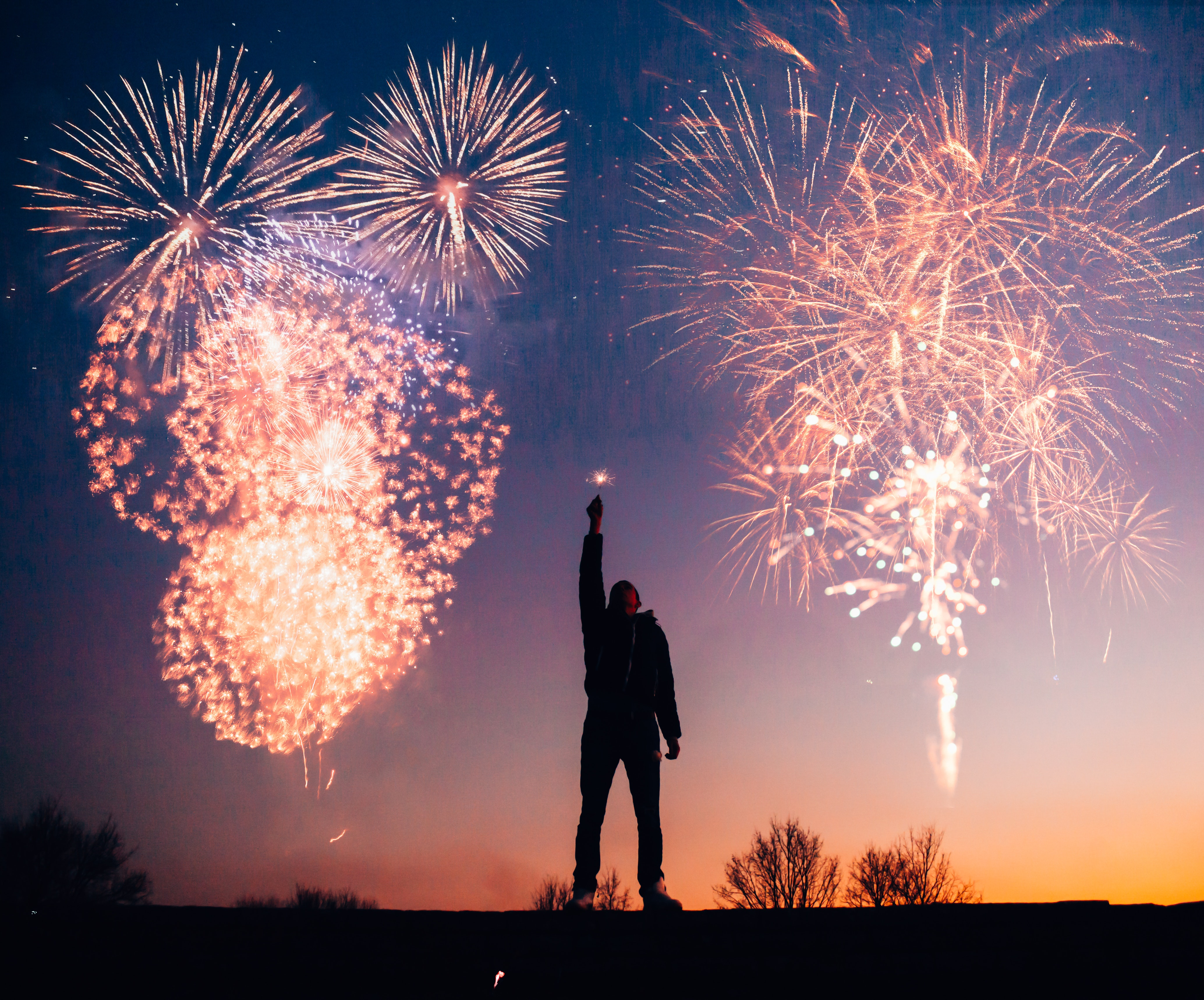 Feuerwerk am Himmel
