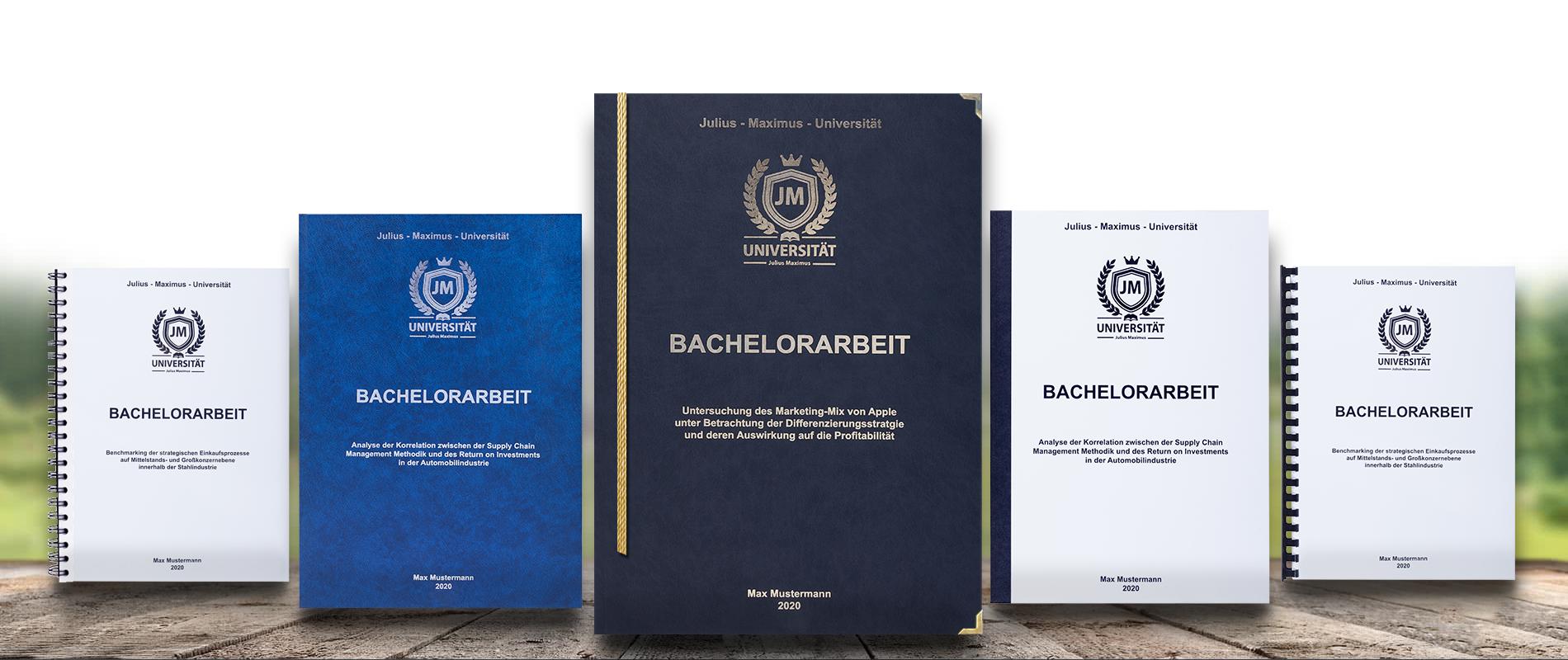 Bachelorarbeit drucken & binden