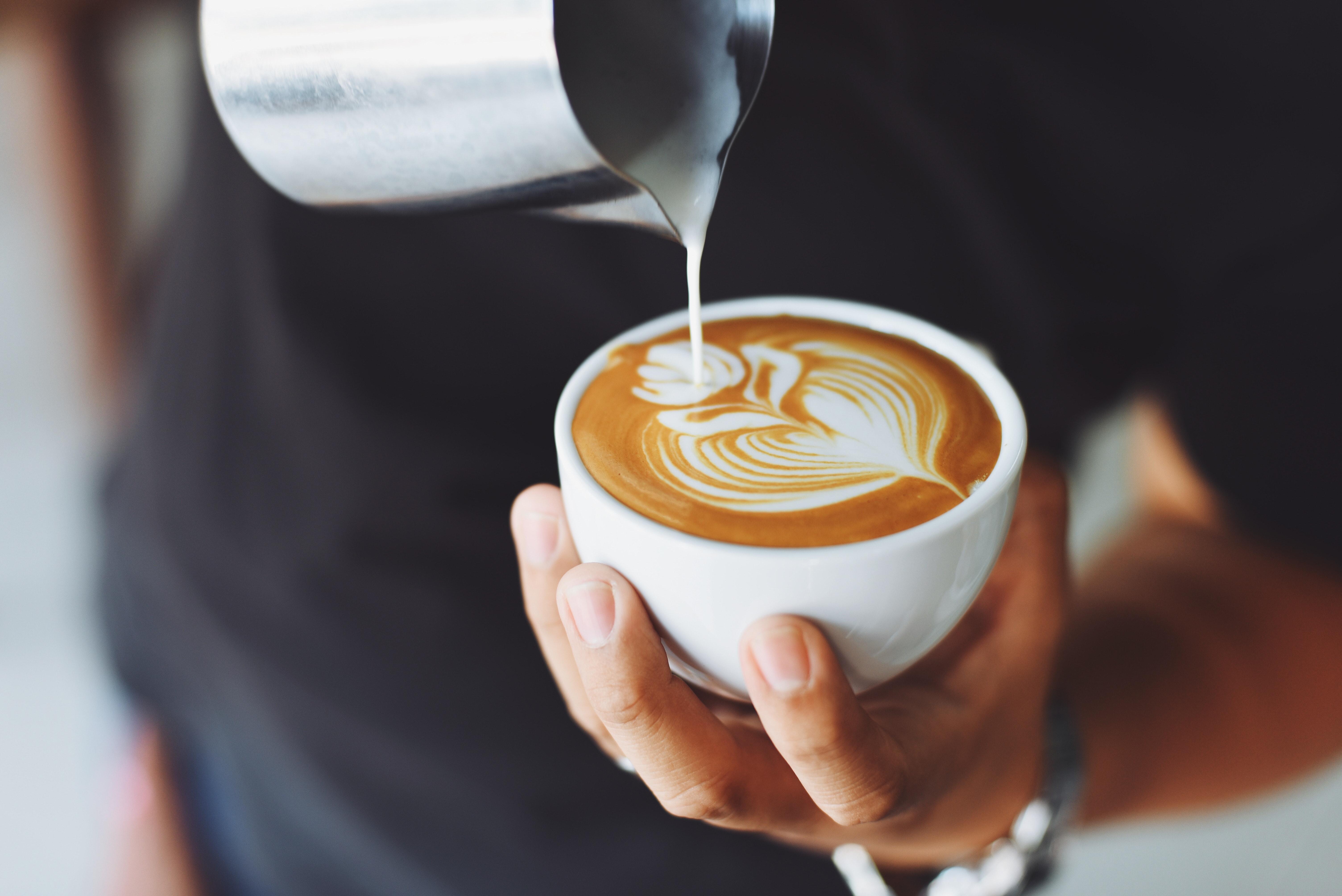 Kaffeezubereitung vom Barista