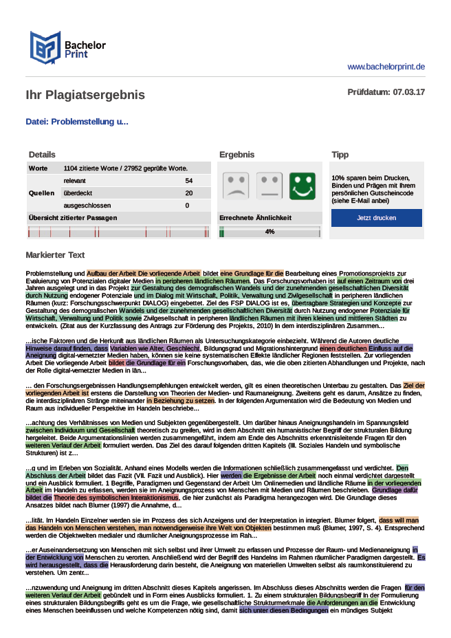 Plagiatsreport