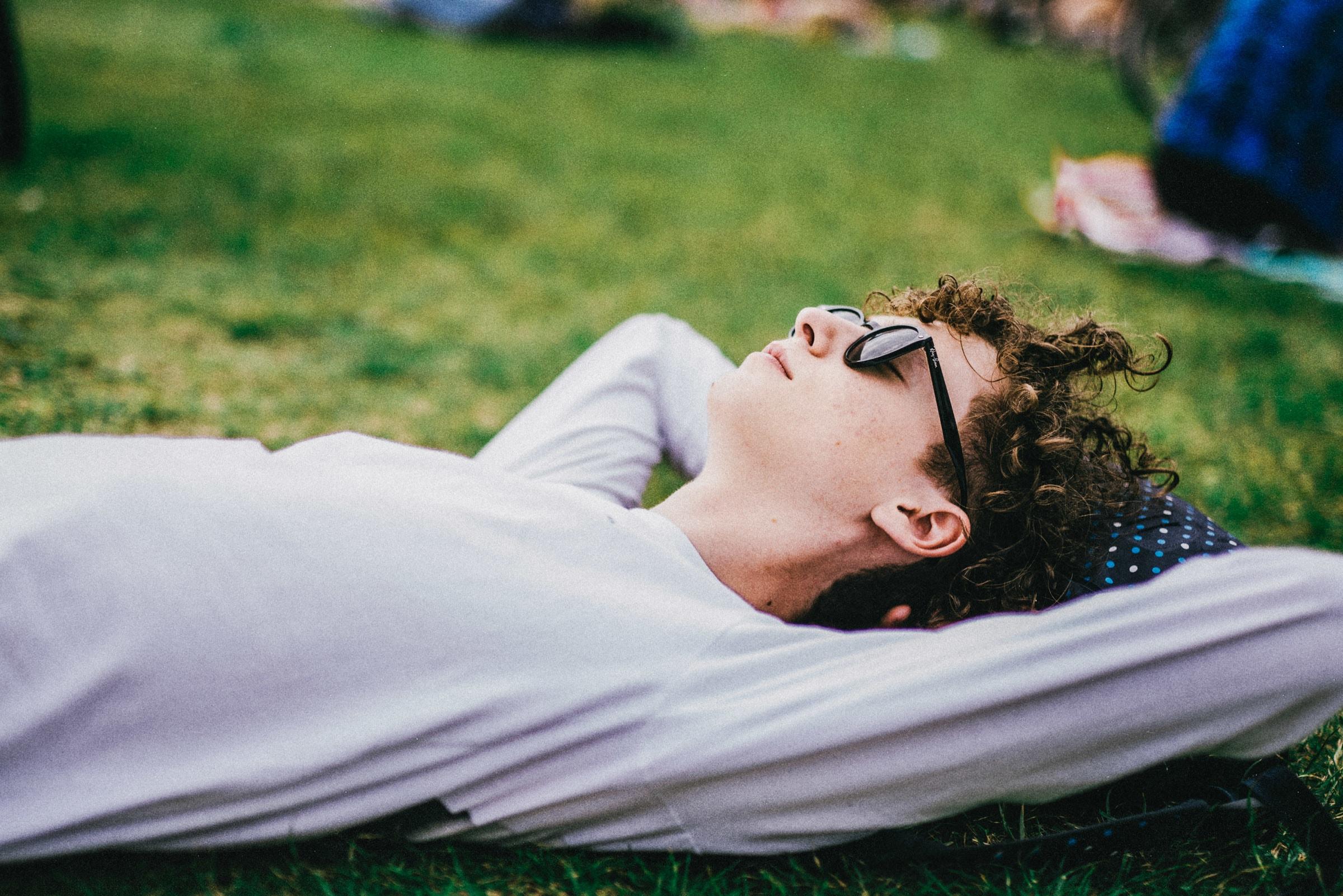 Guy lying on ground