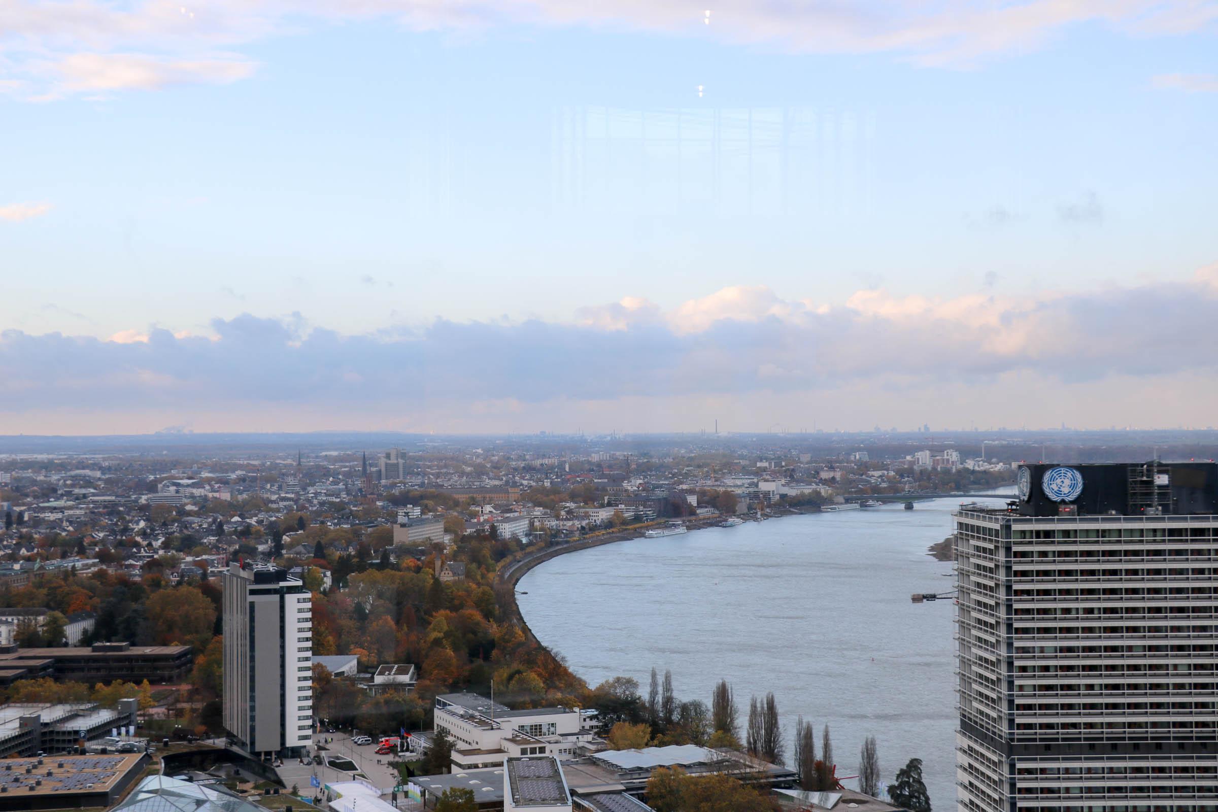 Panorama von Bonn mit dem Rhein
