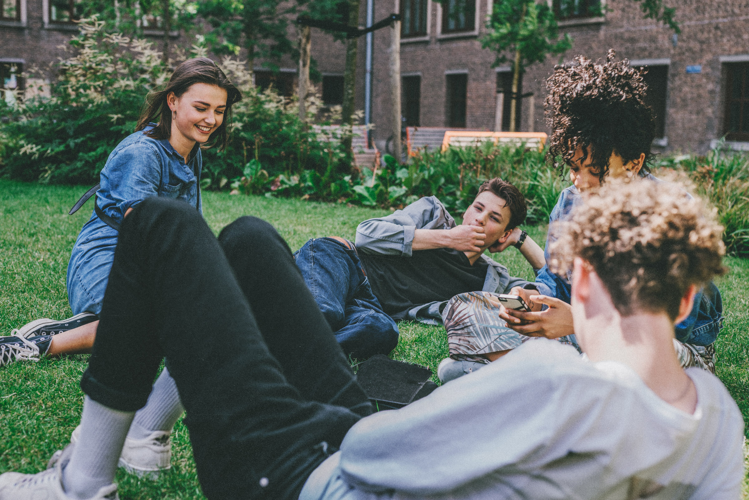 Young people hanging out