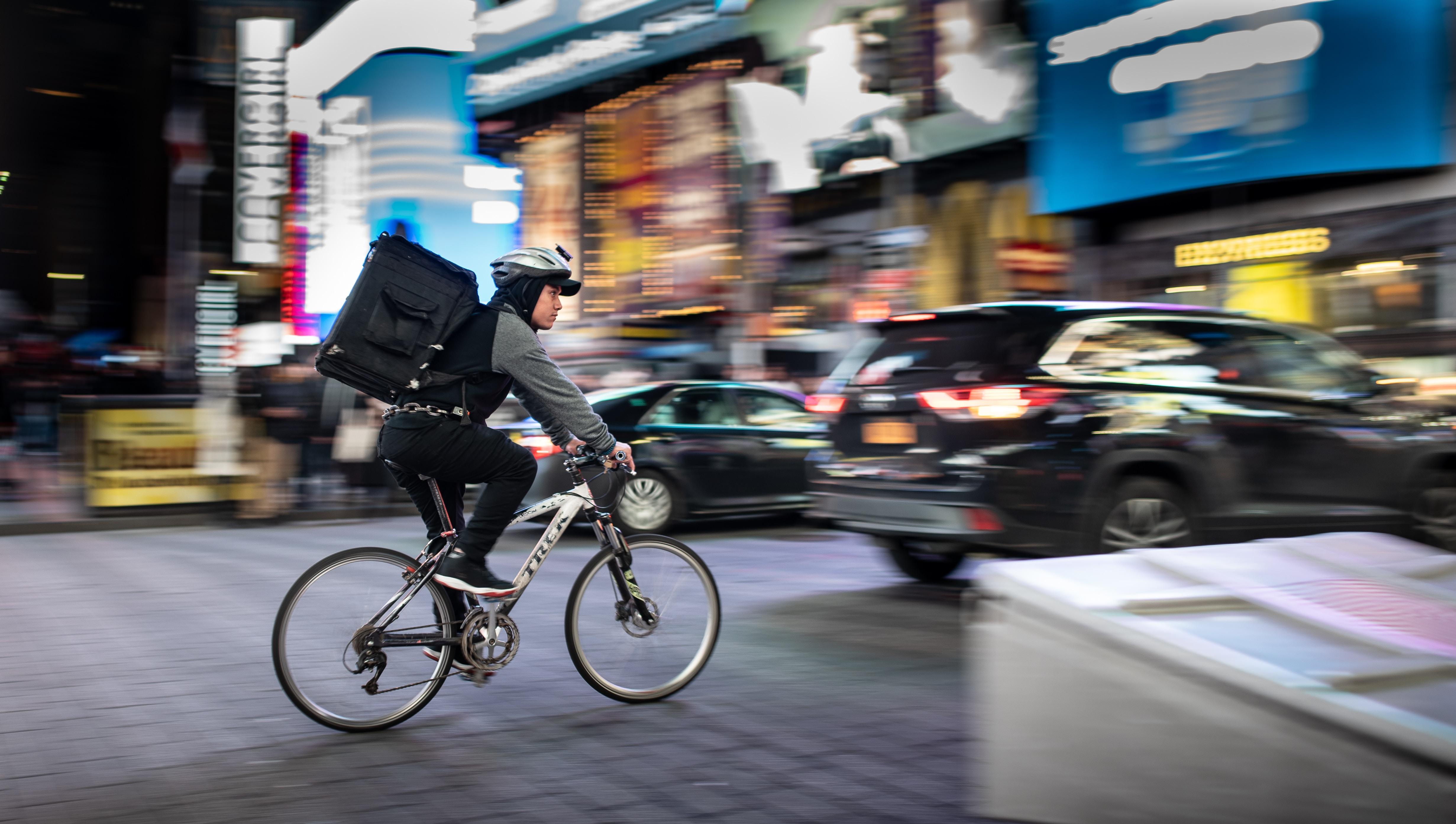 Nebenjob als Fahrradkurier