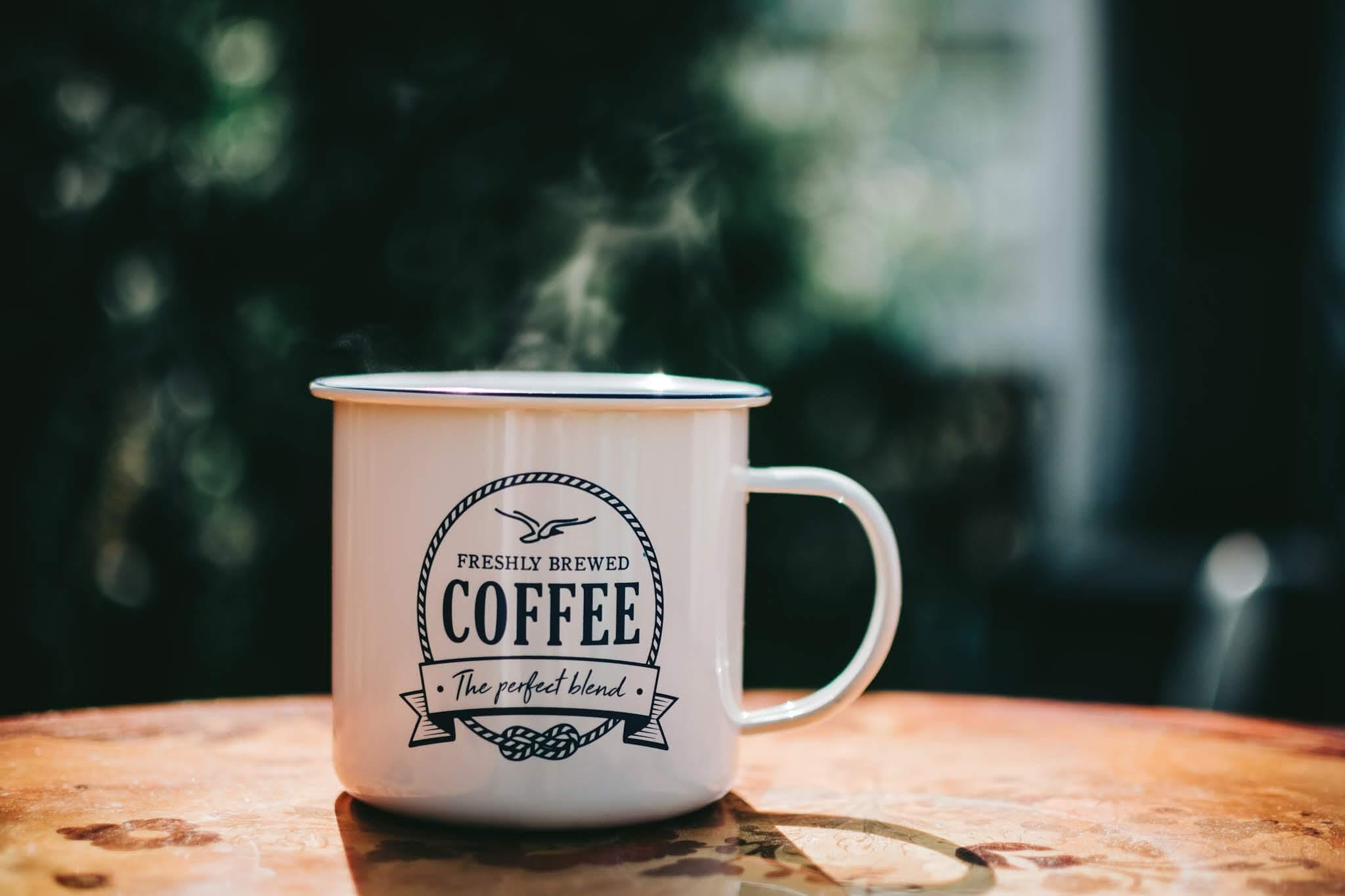 Kaffe Tasse mit schönem Hintergrund