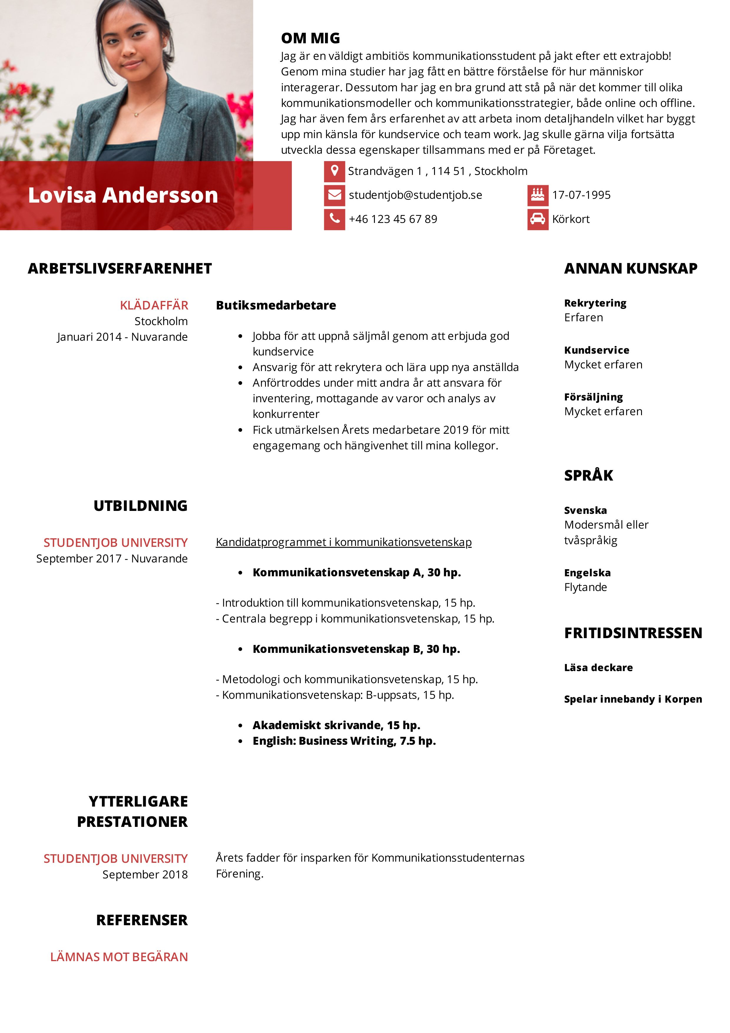 Hur skriver man ett CV