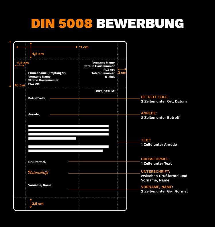 DIN 5008 Bewerbung Vorlage