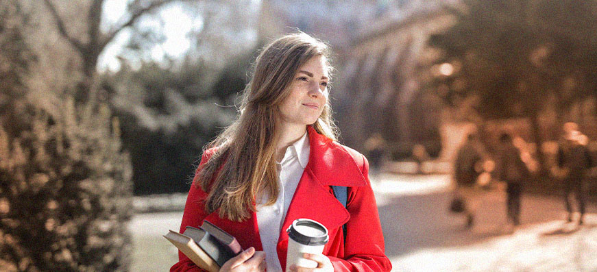 Studentin in der Schweiz