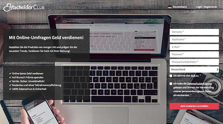 Screenshot: EntscheiderClub.de