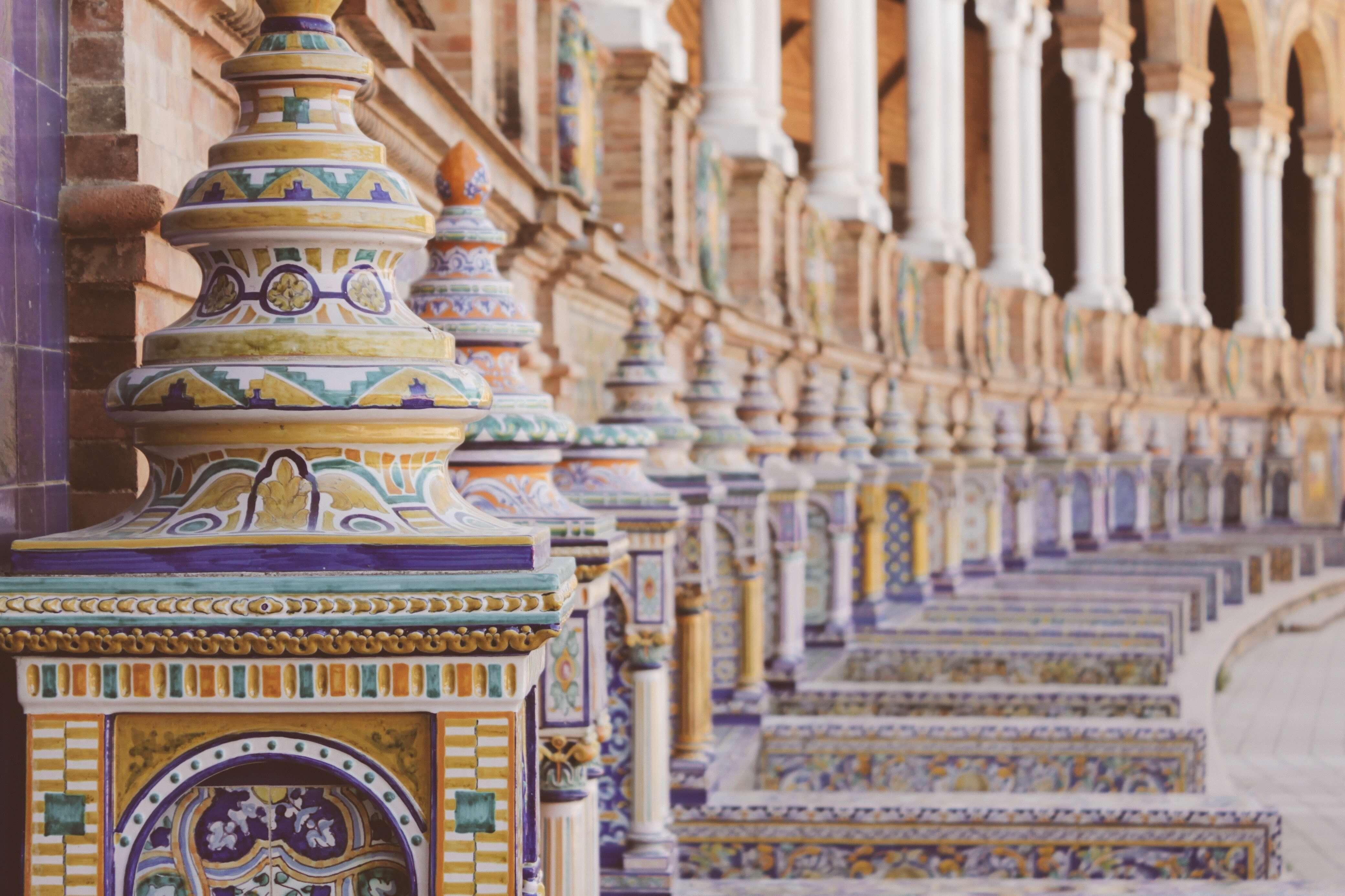 Azulejos de Plaza de España en Sevilla
