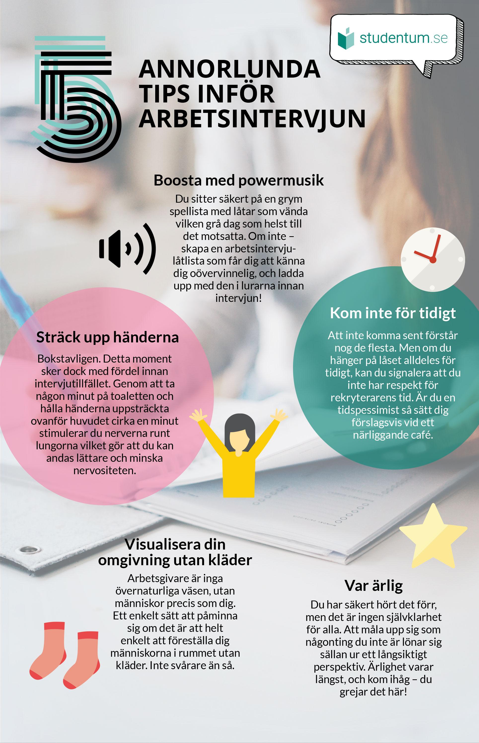 5 annorlunda tips inför arbetsintervjun