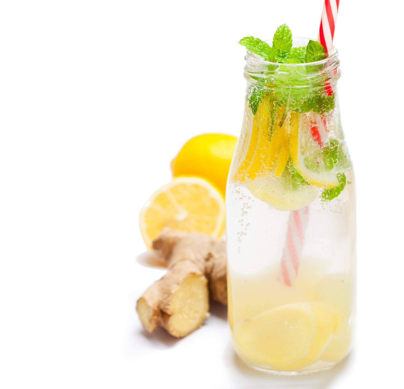 bouteille d eau avec gingembre