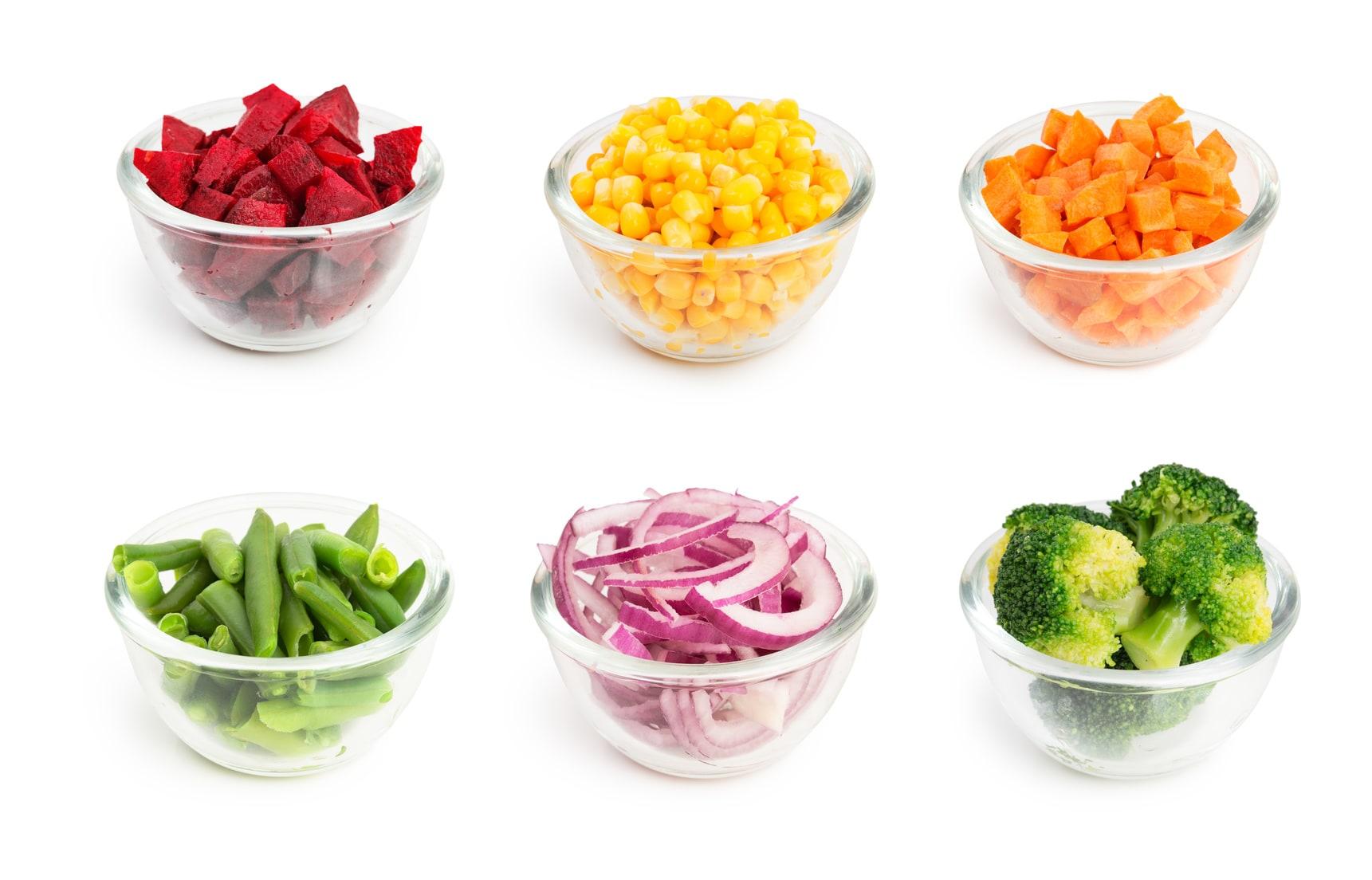 portions de légumes