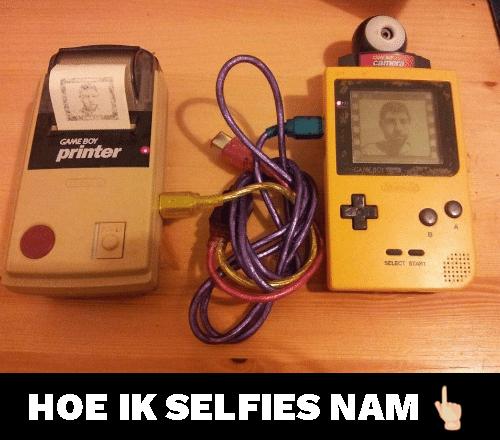 Gameboy selfiemaker