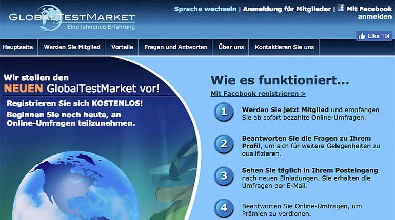 Screenshot: globaltestmarket.com