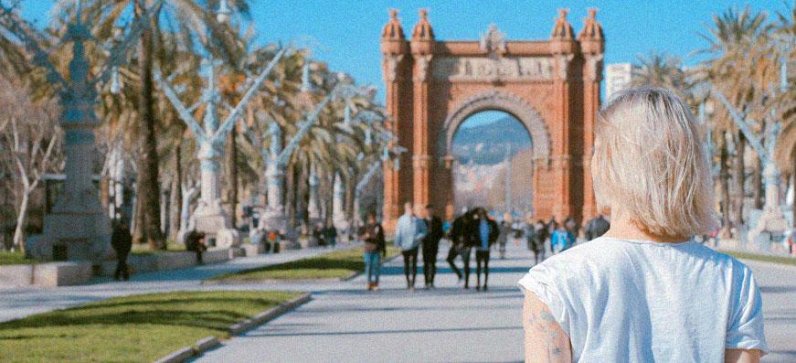 Girl in Barcelona