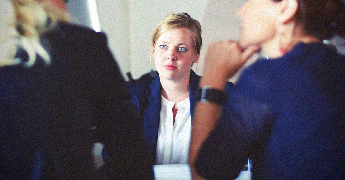 working women job interview