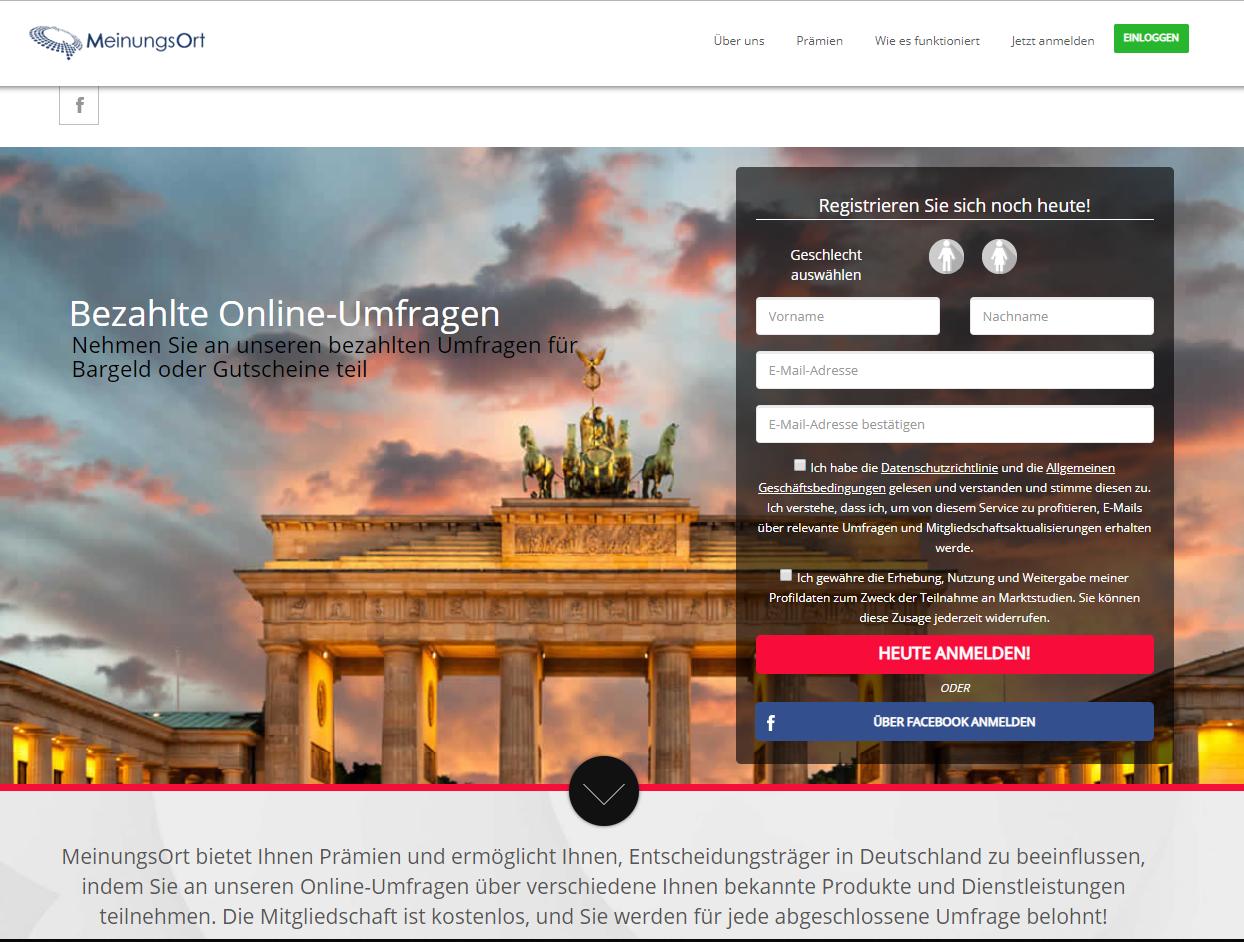 Screenshot: Meinungsort.de