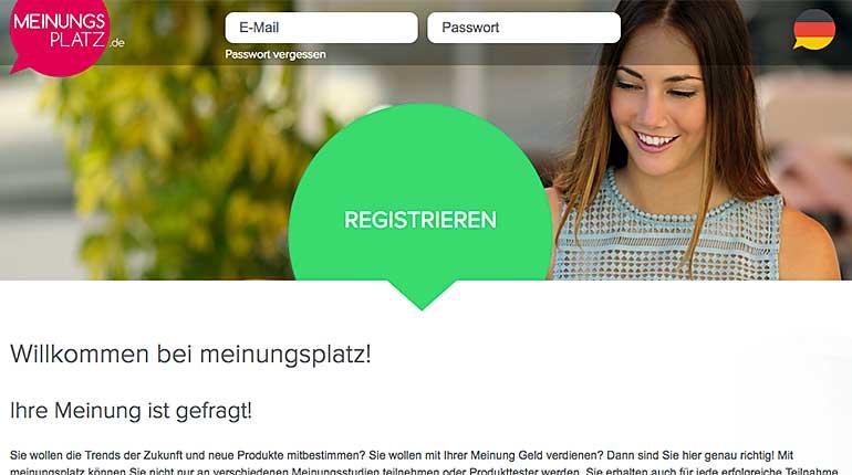 Screenshot: Meinungsplatz.net