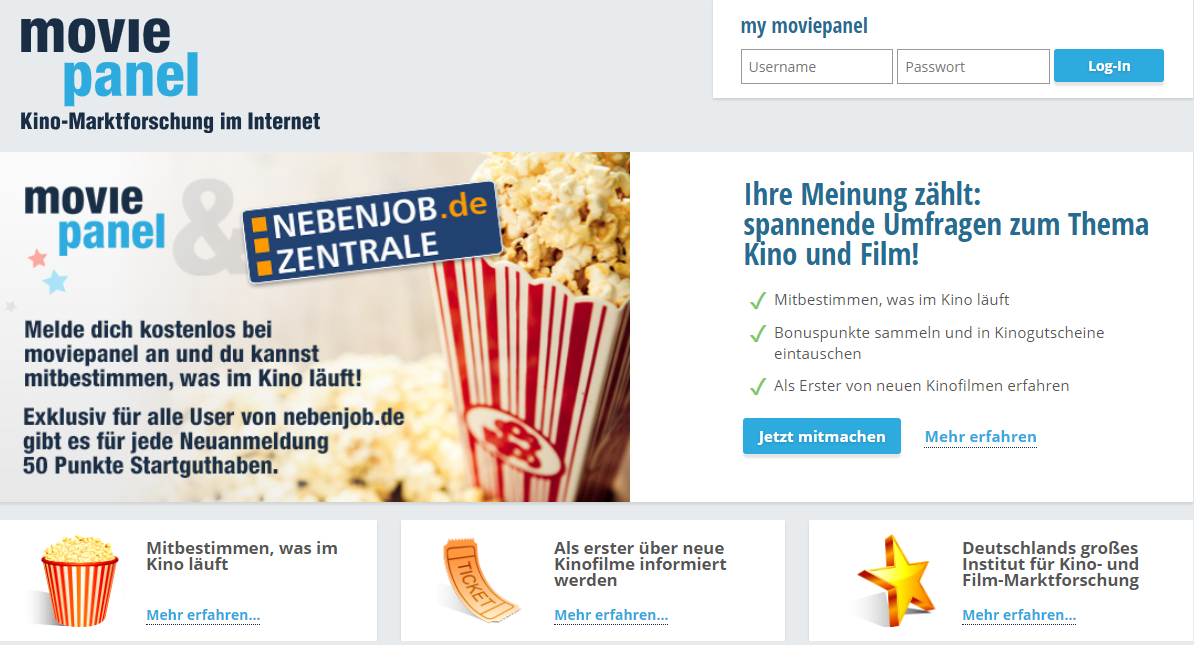 Screenshot: Moviepanel.de