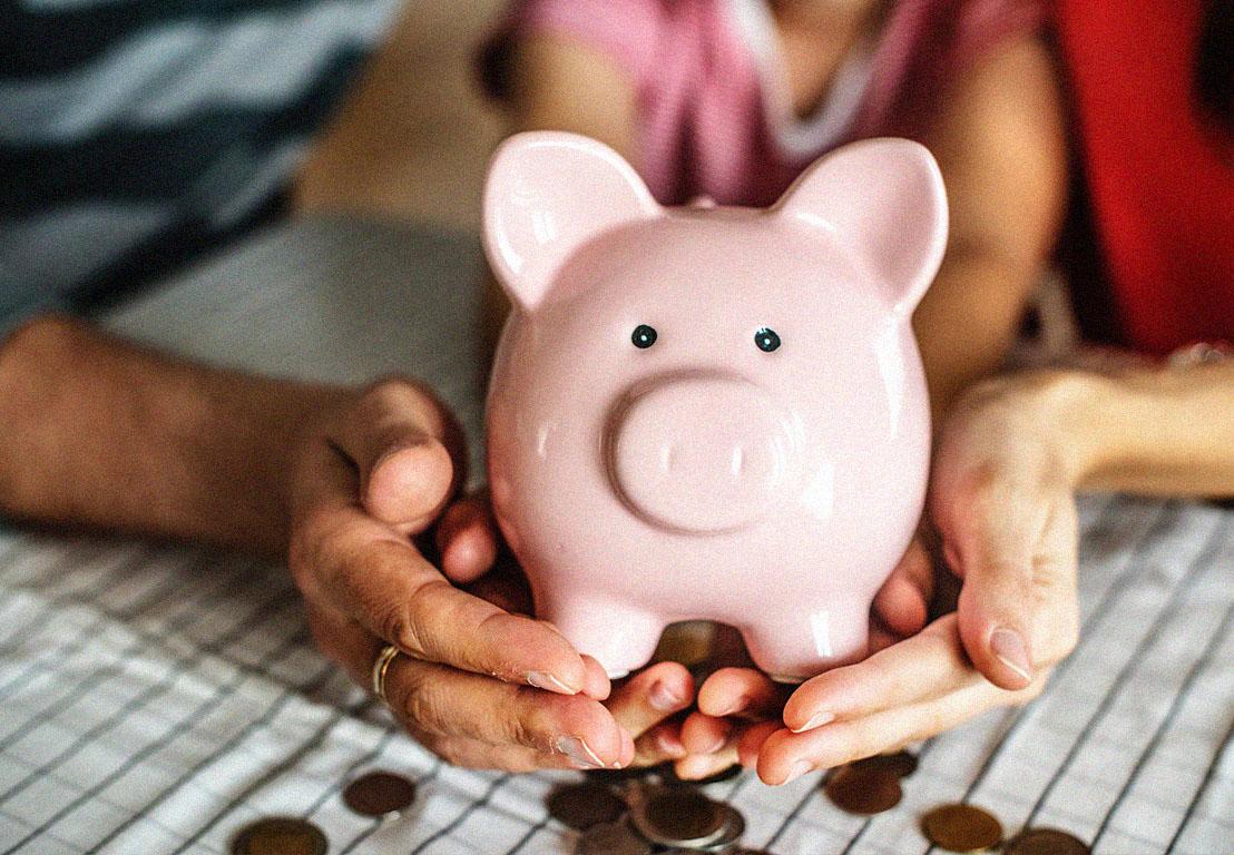 Hucha para ahorrar dinero